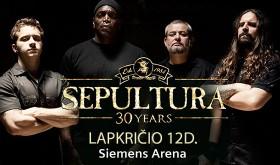 Legendinė metalo grupė SEPULTURA Lietuvoje švęs 30-metį