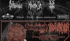 """""""Nekrokatarsis"""" skelbia NAHASH albumo """"Daath"""" pristatymą ir koncertą """"Interdimensional Passages"""""""