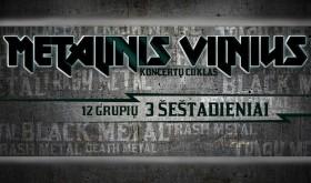 """Spalį ir lapkritį vyks koncertų ciklas """"Metalinis Vilnius"""""""