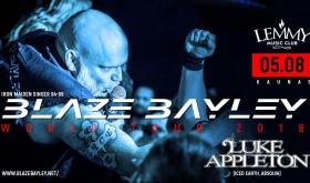 Blaze Bayley World Tour 2018