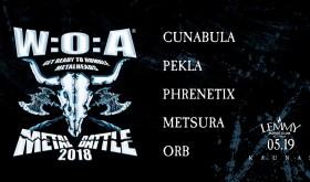 "Skelbiami ""W:O:A Metal Battle 2018"" finalo Lietuvoje dalyviai"