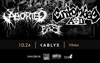 ABORTED, ENTOMBED A.D., BAEST