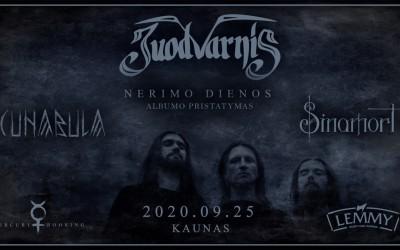 """Juodvarnis. Albumo """"Nerimo dienos"""" pristatymas. Kaunas"""